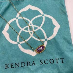 Kendra Scott purple iridescent necklace